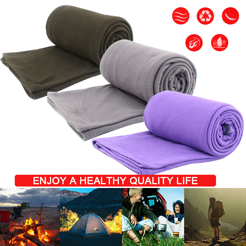 Sports & Entertainment Camp Sleeping Gear Outdoor Fleece Sleeping Bag Camping Trip Air Quilt Liner Warm 3 Season For Travel Camping Lunch Break Knee Blanket Sleeping Bags