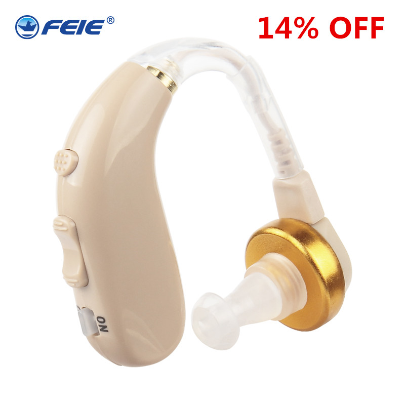 listening device wireless Behind Ear Rechargeable Hearing Aid Earphone Deafness Headset for Severe Hearing Loss S-130 Free Ship