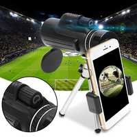 40x60 Monocular Telescope Smartphone BAK4 HD Mini Monoculars Night Vision Zoom Outdoor Hunting Camping Scopes + Tripod