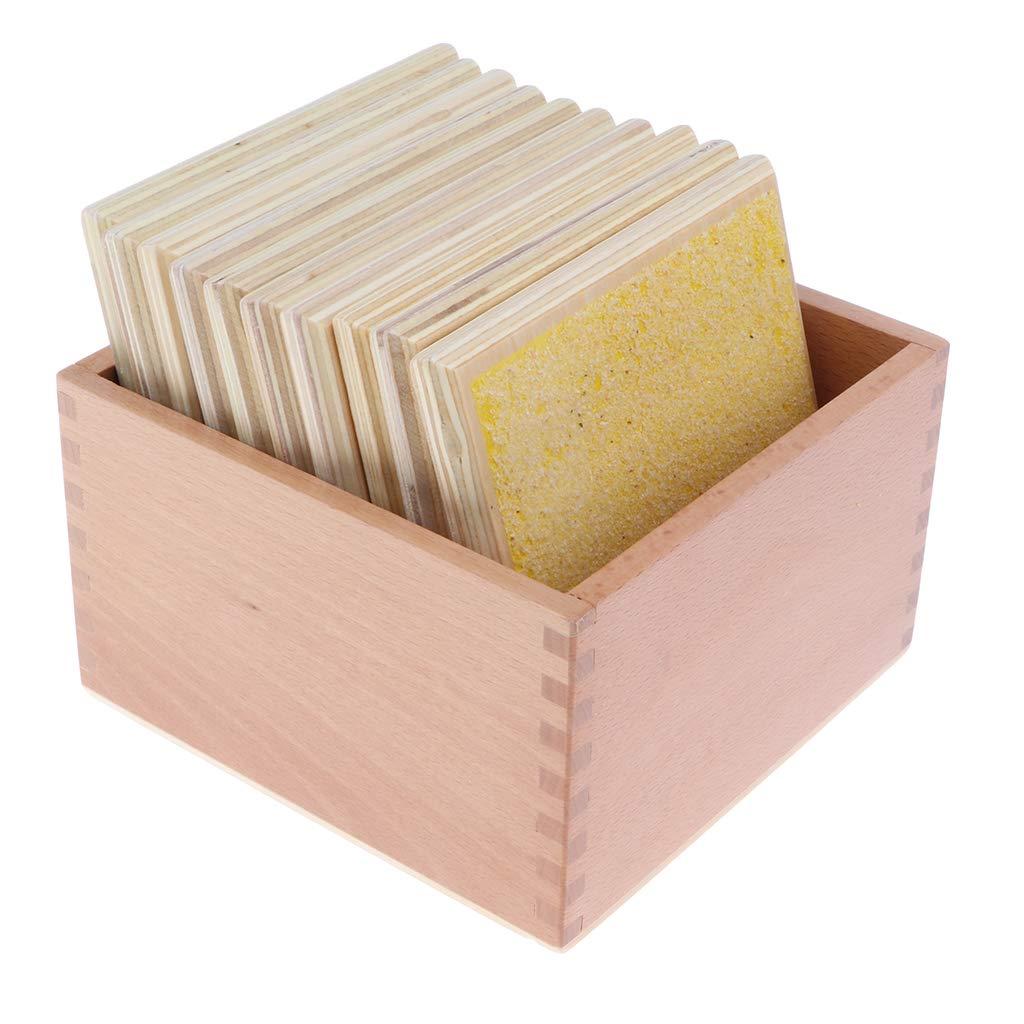 Montessori matériel sensoriel 5 paires de planches en bois avec boîte développement sensoriel jouet jeux éducatifs pour bébé enfant enfants