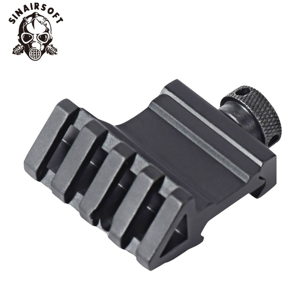 45 Degree Angle Tactical Laser Paintball Base Adapter Aluminum Offset 4 Slot Side RailScope Mount 20mm Picatinny Weaver