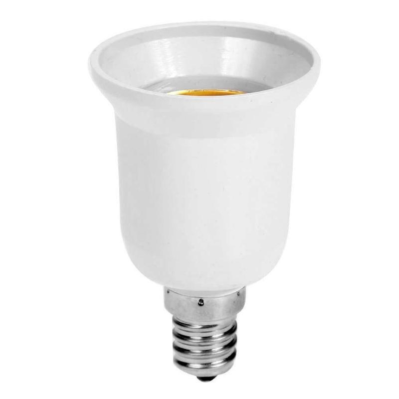 Fireproof Plastic E14 To E27 Socket Adapter Conversion Lamp Holder Converter Socket Light Bulb
