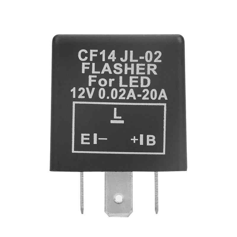 3 פינים רכב אופנוע אוניברסלי מתכוונן LED הסוטה ממסר הפעל אות אור Hyper פלאש לתקן 12V Relais clignotant נצנץ