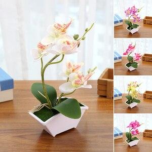 Image 5 - ผ้าไหมดอกไม้สีผีเสื้อประดิษฐ์ปลอมดอกไม้สีเขียวใบพืชดอกไม้Home Decorงานแต่งงาน