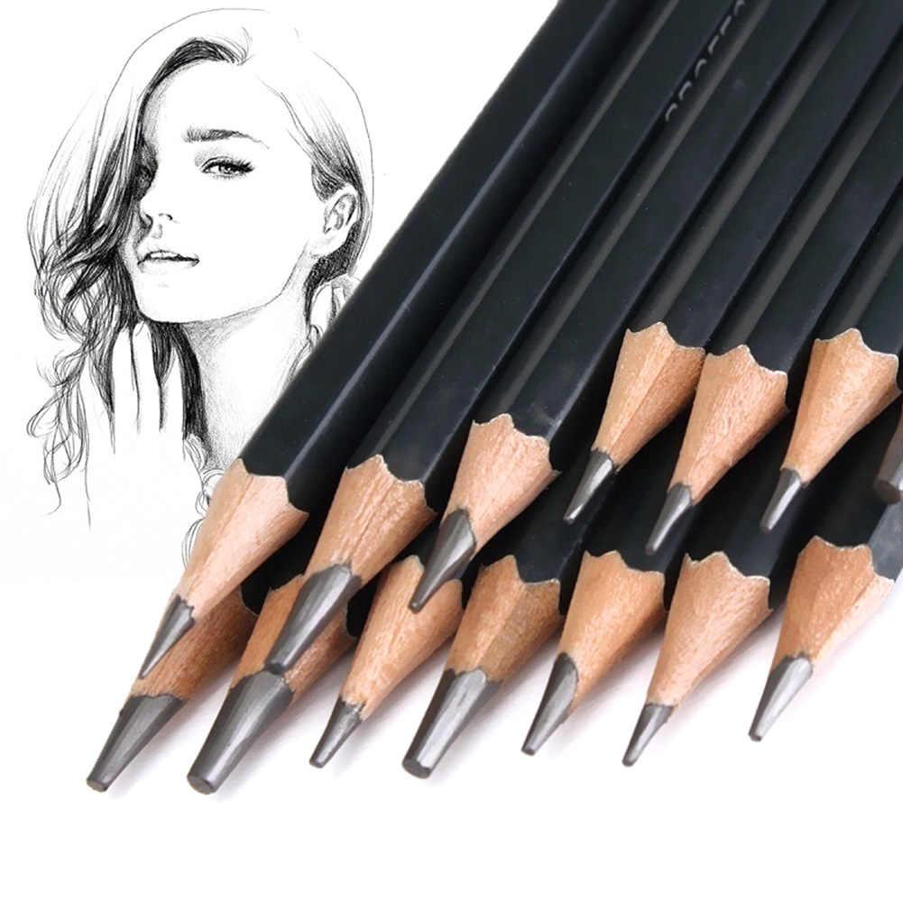 14 pcs lot graphite pencils beautiful painting tool 6h 12b professinal set of 14 sketch art drawing pencil sketching pencils