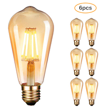 6 Pack LED Lampadina Vintage Edison ampoule LED E27 4 W Filament ampoule vis Edison lumière LED ampoule ampoule LED blanc chaud 2700 K