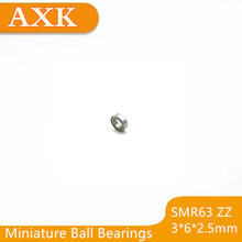 купить 2019 Direct Selling Rushed 3x6x2.5mm Smr63 Zz Abec-3 Stainless Steel Bearings 10pcs Free Shipping Mini Deep Groove Ball Bearing по цене 615.49 рублей