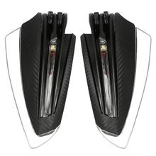 VODOOL 1 Pair Motorcycle Hand Guards 22mm 7/8 Handlebar Handguards with Turn Signal Light Accessories Parts