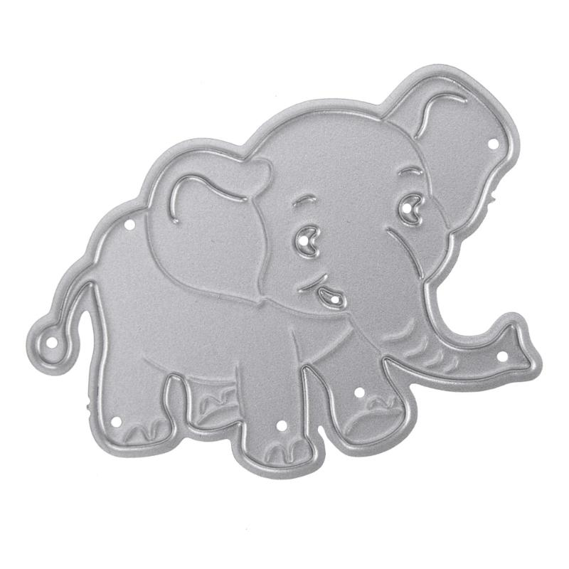 Металлический трафарет с изображением слона, держатель для тиснения, альбом «сделай сам» с изображением животных, открытки для скрапбукинг...