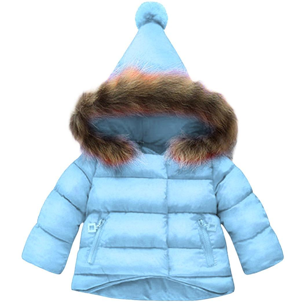 2018 Kinder Jacke Neue Kinder Jacke Mantel Mädchen Winter Warme Baby Mädchen Verdicken Unten Mantel Langarm