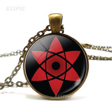 Uzumaki Naruto Uchiha Sasuke Sharingan Eyes Necklace Rinnegan Eyes Pendant Japanese Anime Naruto Cosplay Jewelry Accessories(China)