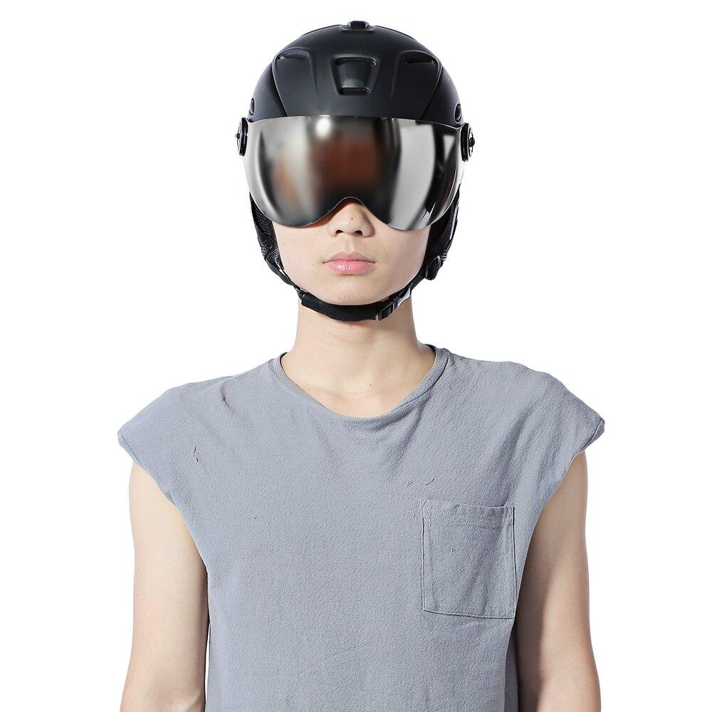 Hommes femmes 2-en-1 casque de Ski entièrement moulé casque de protection lunettes de Ski sécurité Skateboard Ski Snowboard casque Sports de neige