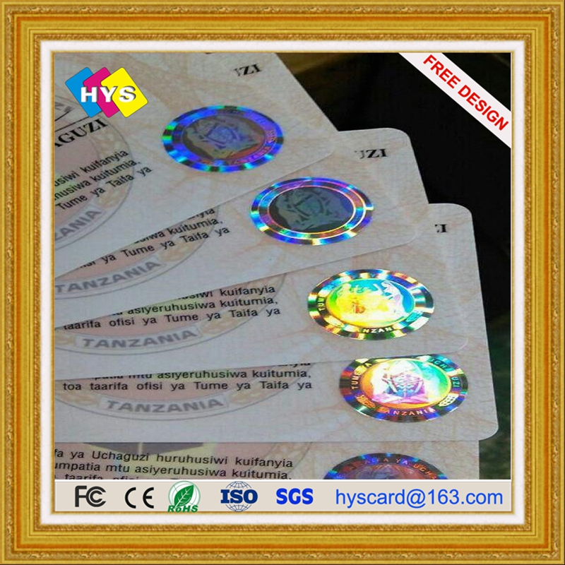 Holographic Plastic Card And Hot Stamping Gold Or Silver Pvc Card Supply