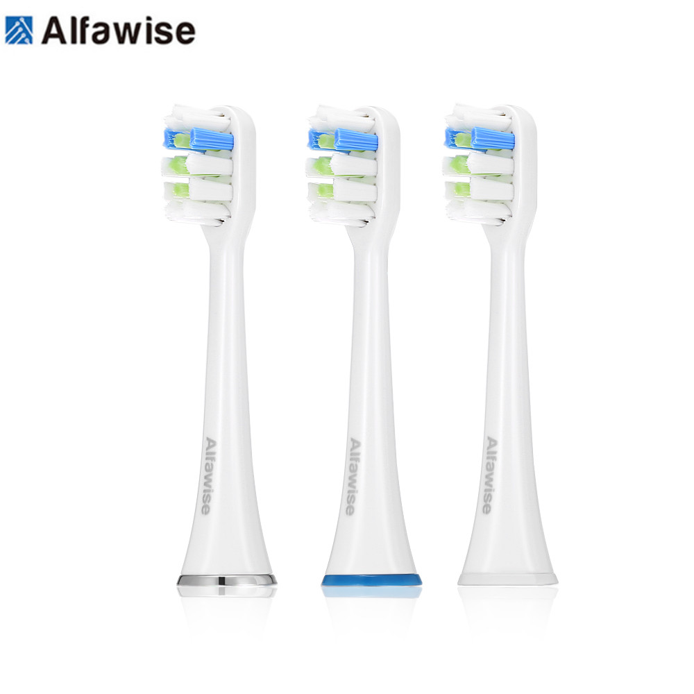 3pcs Alfawise Stylish Brush Head For RST2056 Sonic Electric Toothbrush Replacement Wavy Toothbrush Heads Fine And Soft Bristles3pcs Alfawise Stylish Brush Head For RST2056 Sonic Electric Toothbrush Replacement Wavy Toothbrush Heads Fine And Soft Bristles