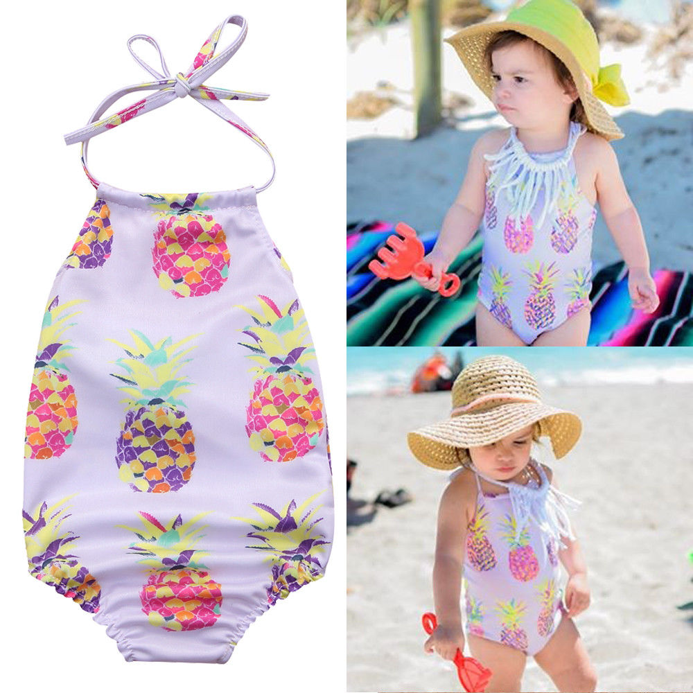 All in one swimsuits for baby girl-3027