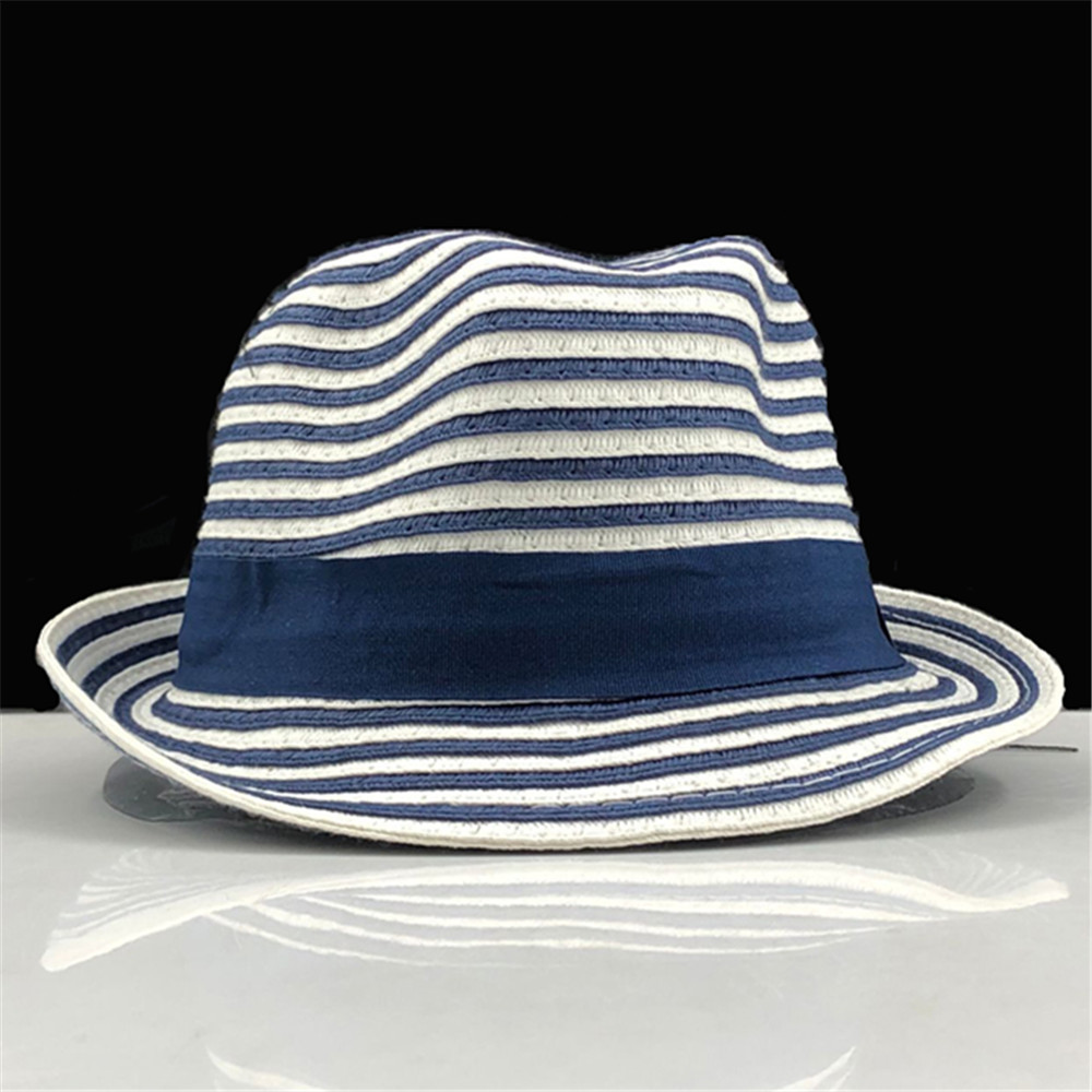 Hot Parent-child Sun Hat Cute Children Sun Hats Bow Hand Made Women Straw Cap Beach Big Brim Hat Casual Girls Stripe Summer Cap
