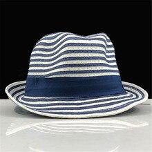 Summer Cap Straw-Cap Children Women Hat Sun-Hat Hand-Made Big-Brim Girls Stripe Beach