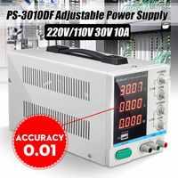 Высокоточный высокомощный регулируемый светодиодный дисплей Импульсный источник питания постоянного тока 10 В/220V0 ~ 30 в 0 ~ 10A для лаборатории...