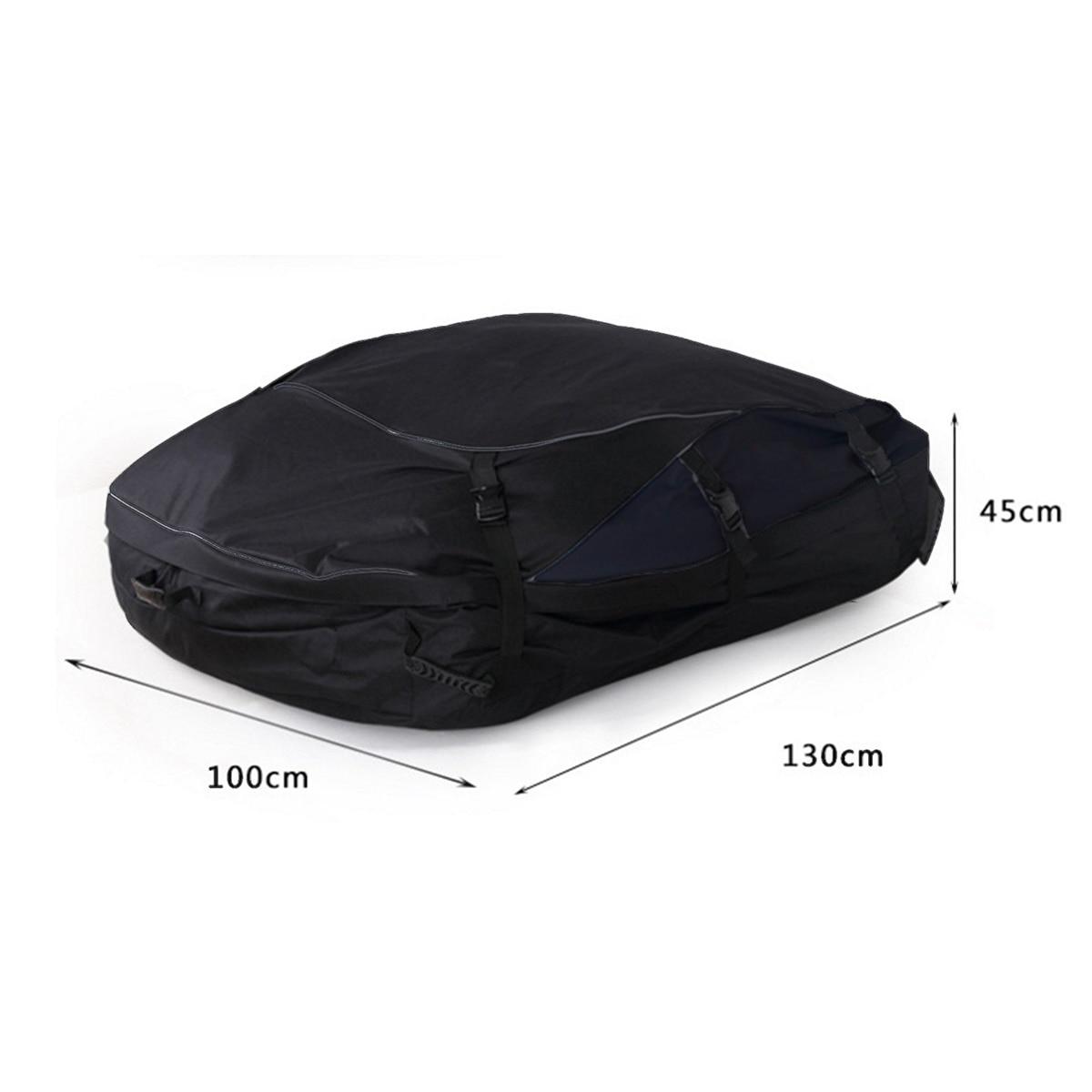 130X100X45 cm sac de toit de voiture sac de toit supérieur porte-bagages transporteur de bagages voyage étanche Touring SUV Van pour les voitures - 5