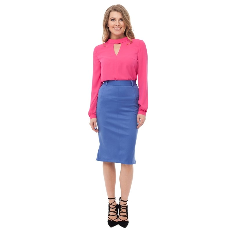 Skirt type pencil rib knit pencil skirt