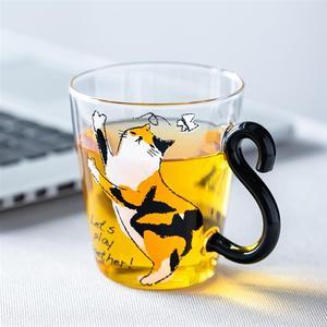 8.5oz gato impresso caneca de café bonito copo de leite do suco de água para o café da manhã drinkware animais gatinhos chá xícara de café para casa