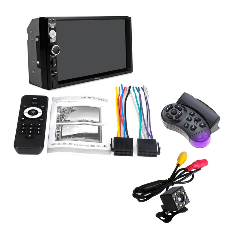 New 7-inch Universal Car Radio MP5 Multimedia Player 2 Din HD BT TF FM Auxiliary Input Steering Wheel Control Rear-view Camera New 7-inch Universal Car Radio MP5 Multimedia Player 2 Din HD BT TF FM Auxiliary Input Steering Wheel Control Rear-view Camera