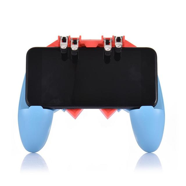 Or AK65 PUGB Helper Mobile Phone Handle Mobile Game Controller Six Finger All   In   One Mobile Controller Game Joystick Gamepad