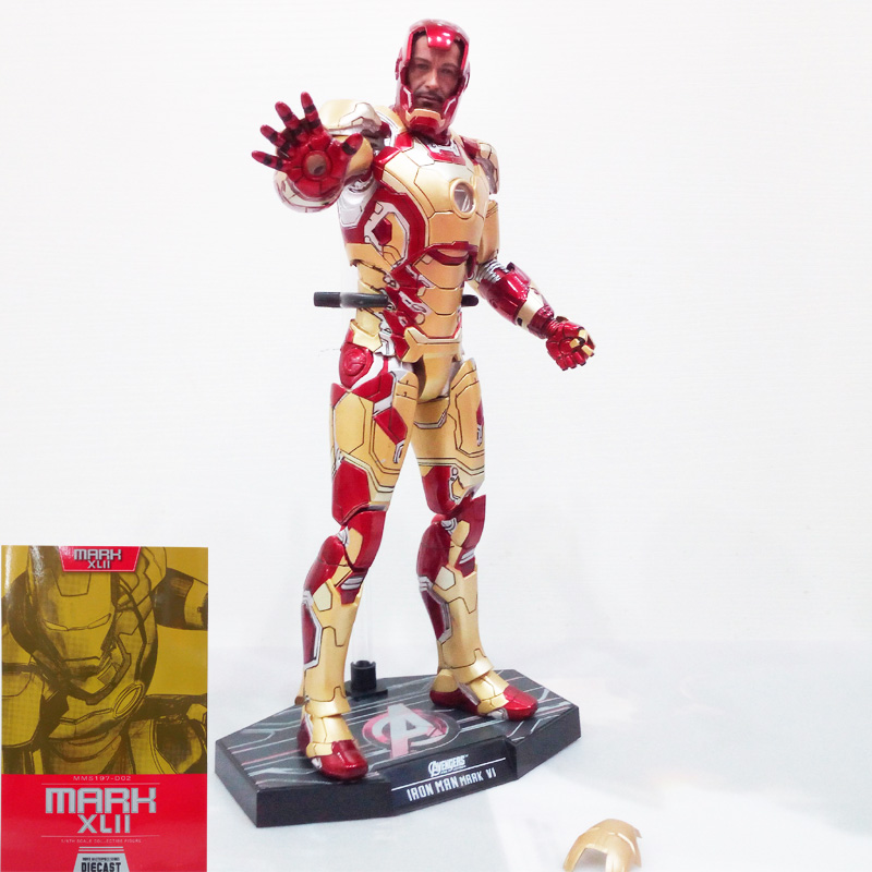 Marvel Comics Play Arts Kai Marvel 25cm Iron Man change face Super Hero Ironman PVC Action Figures toys Anime figure Toys gifts