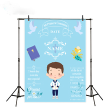 Holy Communion Photography Backdrop Pink Flower Girl Background Photo Studio Party Custom Photocall Photophone Decor allenjoy backgrounds for photography studio blue little boy my first holy communion customize backdrop original design photocall