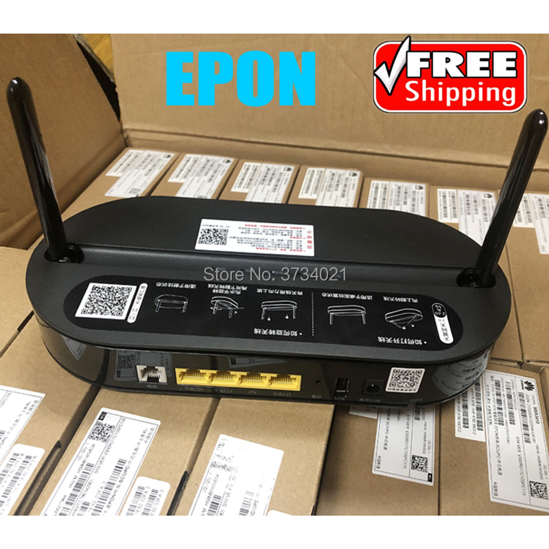Original Huawei HS8145V EPON ONT 4GE+1Tel+1USB+Wifi 2.4G/5G, Huawei EPON ONU For Fiber Optic Network Router, English Firmware