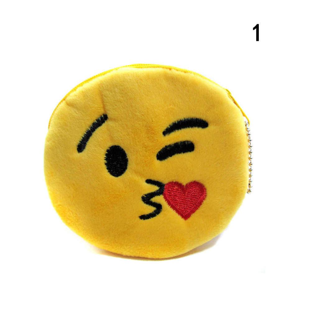 Маленький милый мультфильм Плюшевые кошельки Детские смайлики молния изменить кошелек мини сумка сумки подарки для детей обувь девоч