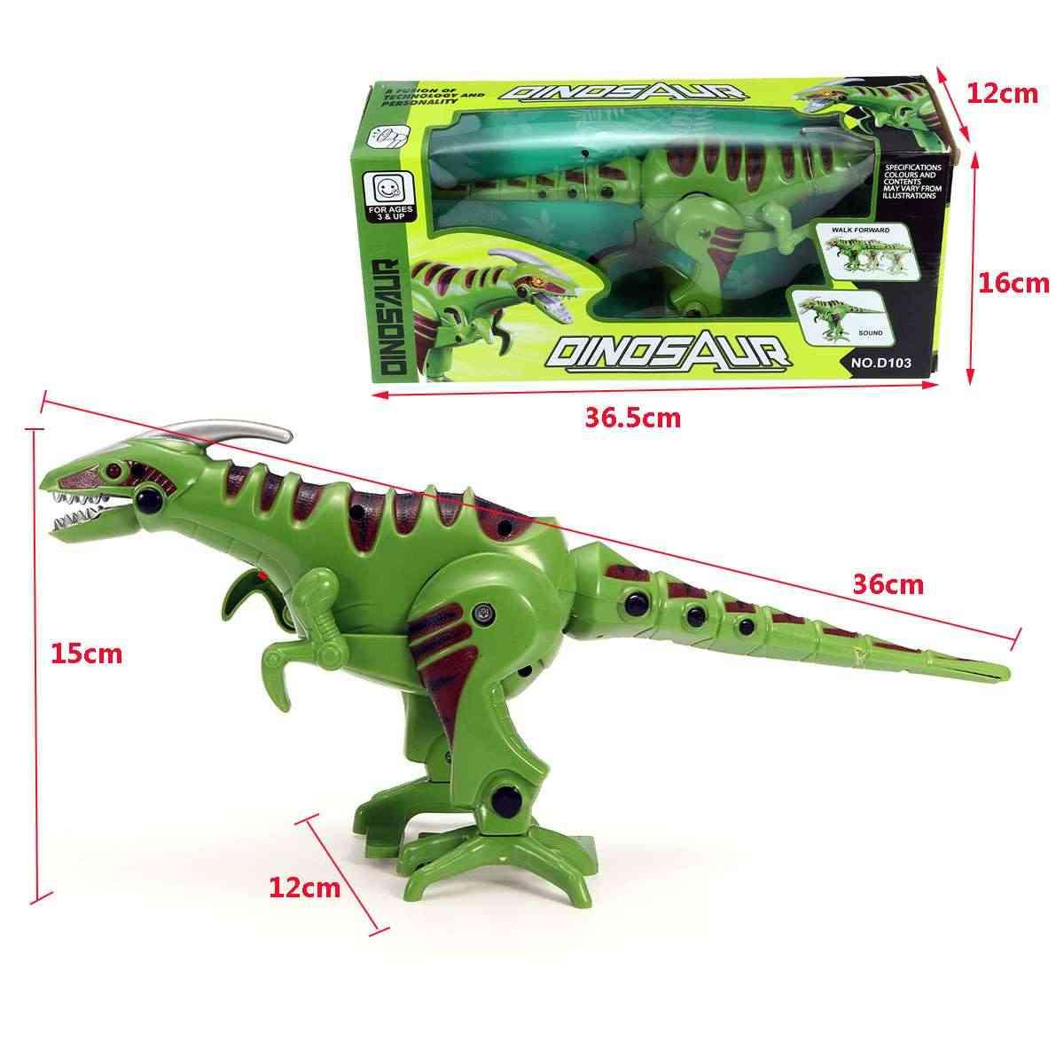 Динозавр робот интерактивный ToyElectric интеллектуальная ходьба со звуком и светом крутой Рождественский подарок звук/качающаяся голова и хвост
