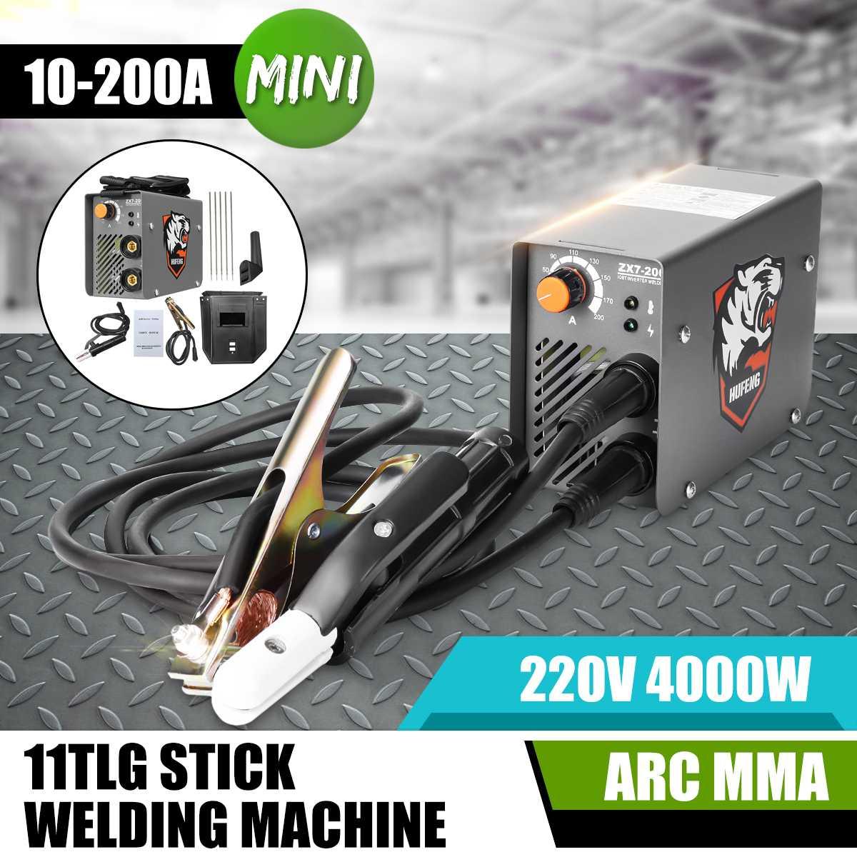 10-200A ZX7-200 220 V 4000 W Mini Portátil MMA Soldador Vara Inversor Máquina de Solda a ARCO Elétrico
