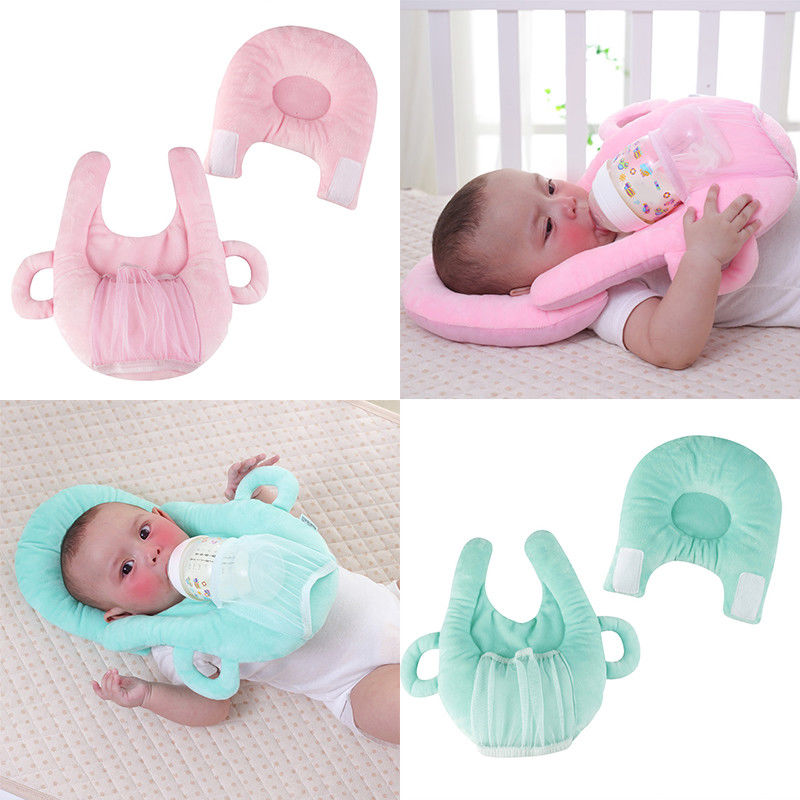 PUDCOCO Useful Anti Roll Prevent Flat Head Support Neck Memory Foam Newborn Baby Infant  Nursing Pillow