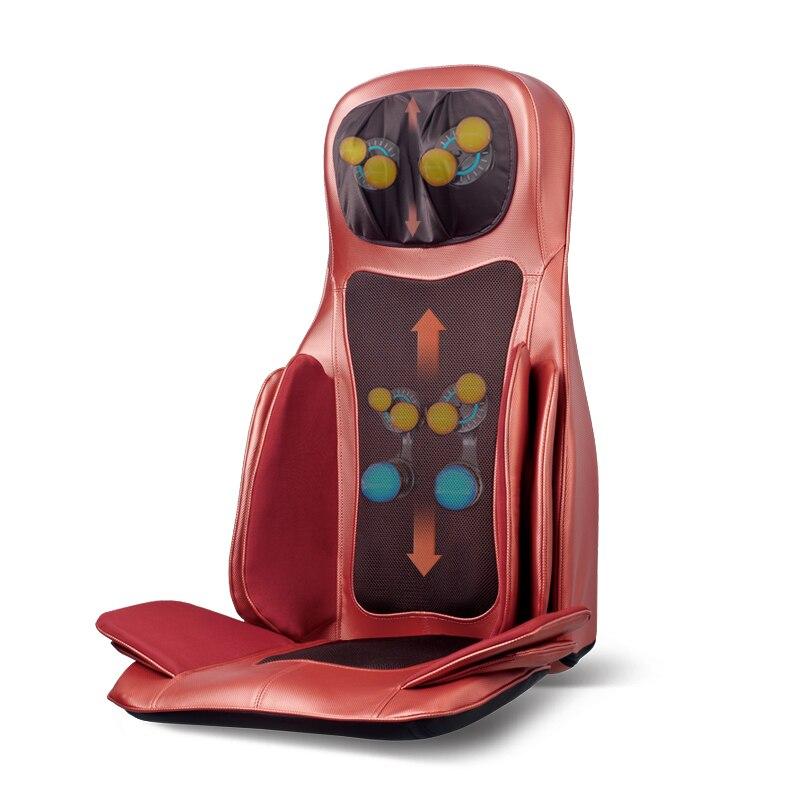 Voltar Massager Cervical Aquecimento elétrico Cintura Ombro Pescoço Amassar Coxim Da Massagem da Pressão de Ar Para Cadeira de Corpo Inteiro