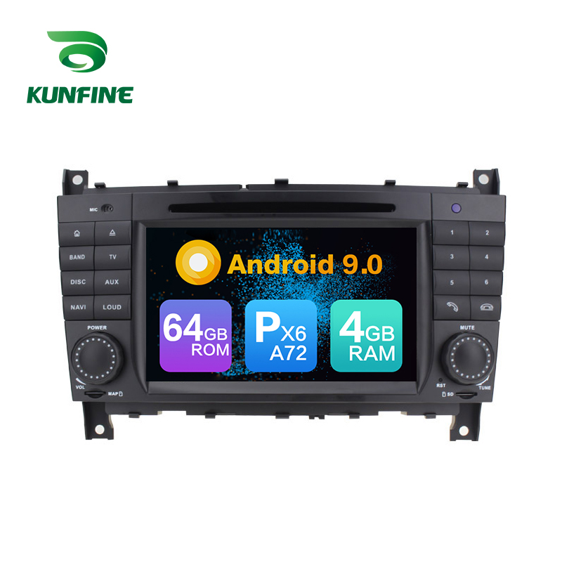 <font><b>Android</b></font> 9.0 Core PX6 A72 Ram 4G Rom 64G Car DVD <font><b>GPS</b></font> Multimedia Player Car Stereo For Benz C-Class <font><b>W203</b></font> 2004-2007 Radio Headunit image