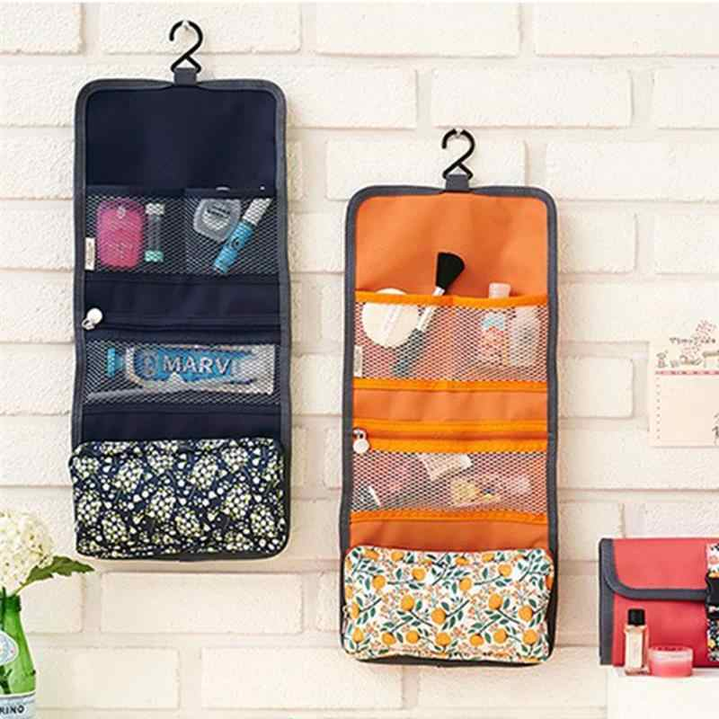 2019 Hanging Organizer Bags Beauty Make Up Cosmetic Bag Case Women Makeup Bag Toiletry Travel Kit Jewelry Cosmetic Case