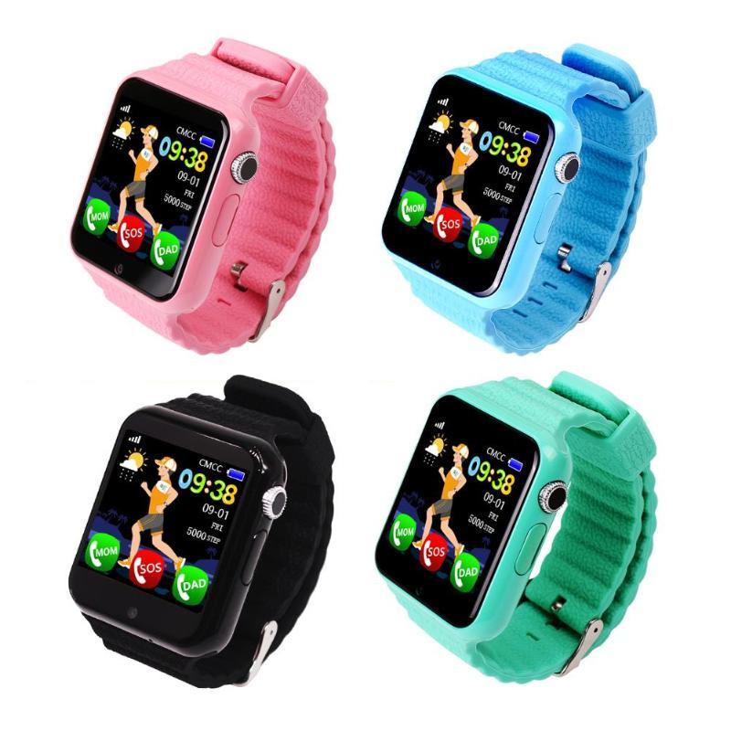 Enfants sécurité Anti perdu GPS Tracker étanche montre intelligente V7K 1.54 ''écran caméra enfant SOS horloge intelligente d'urgence
