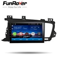 Funrover Car Radio Multimedia 9''Android8.0 2 Din Car DVD Audio Player For Kia K5 Optima 2011 2015 stereo headunit gps navi wifi