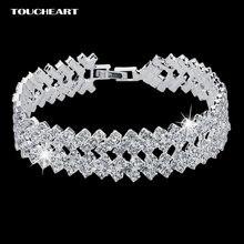 Женский браслет sbr150218 винтажный серебряного цвета с кристаллами