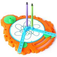 Color-Spinout Plastic Spirograph Drawing Toy Design Set Creative Spiral Pen Spin to Create Colorful Designs Educational toys