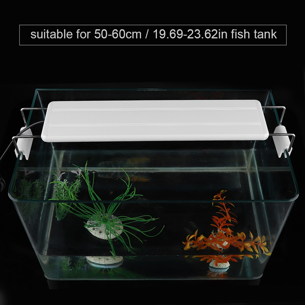 13W Aquarium LED Light High Quality Fish Light Lamp With Extendable Brackets With EU Plug Suitable For 50-60CM Cylinder