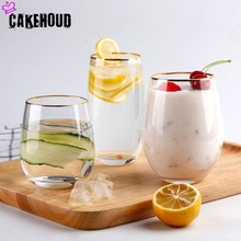 CAKEHOUD 300/500 мл бытовой Горячий прозрачный ручной работы стекло кухня ресторан напиток чашечка Виски Питьевая утварь