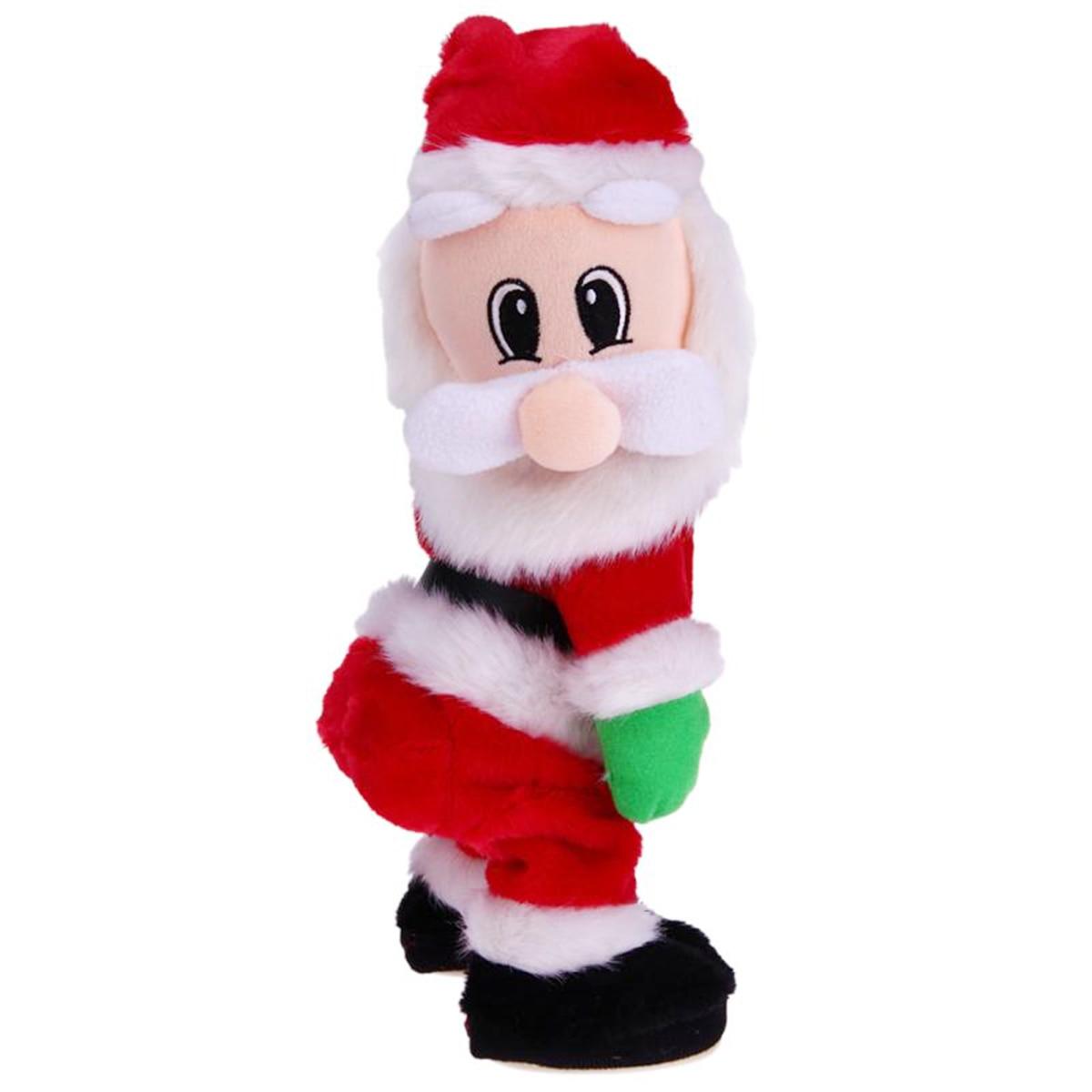 MAGICYOYO New Christmas Gift Dancing Electric Musical Toy Santa Claus Twerking  Singing Doll