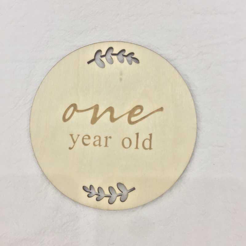 Деревянные ежемесячные вехи Детские карты дерево keepsakes 15 месяцев реквизит для фотографий диски памяти baby shower подарок воспоминания деревянный реквизит