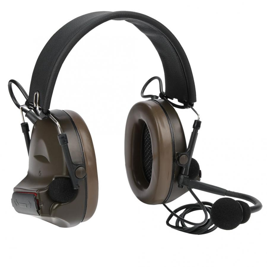 Outdoor Noise Block Earmuff Microphone Earphone Headset for Comtac II/C2 Combat Games-in Tactical Headsets & Accessories from Sports & Entertainment    1