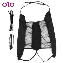 OLO Sexy Lingerie Perspective Costumes Open Crotch Exotic Apparel Sex Toys for W