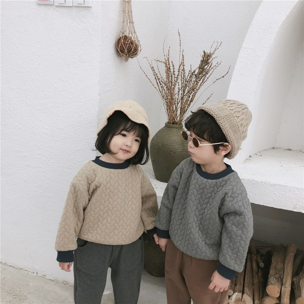 Coat Sweatshirt Pullover Tops Clothing Thicken Toddler Girls Baby Autumn Boys Kids Fashion