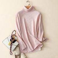 Shuchan Warm Knitted Sweater For Women 100% Cashmere Women's Sweater Turtleneck Pullovers Dot Clothes Winter Womens 2018