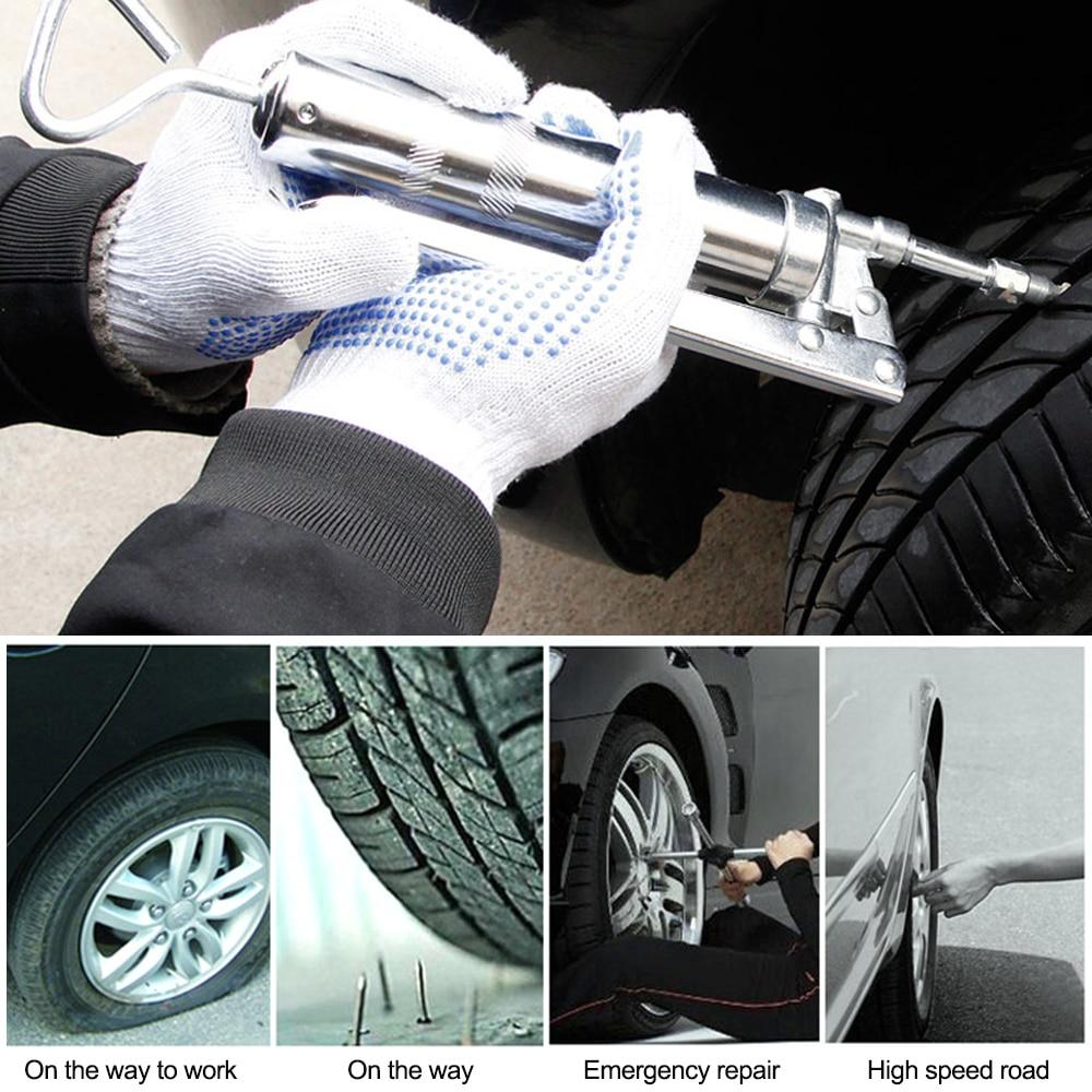 Car Emergency Vacuum Tire Fast Repair Tool Strip Tire Repair Kit 2nd Generation Gauge Tool Camber